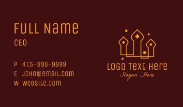 Temple Mosque Minaret Business Card