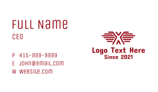 Letter X Wing Business Card