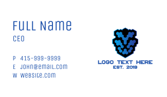 Lion Pixel Business Card