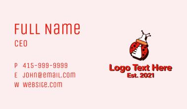 Ladybug Baby Bottle Business Card