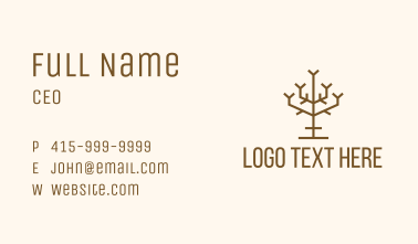 Simple Tree Branch Business Card