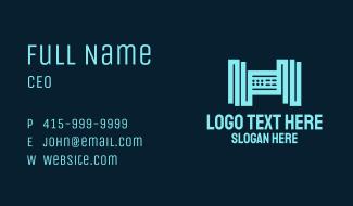 Letter H Server Business Card