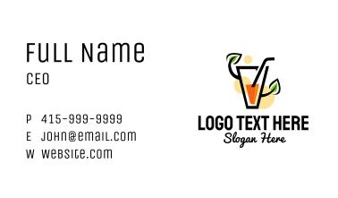 Organic Orange Juice Business Card