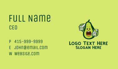 Avocado Student Mascot  Business Card