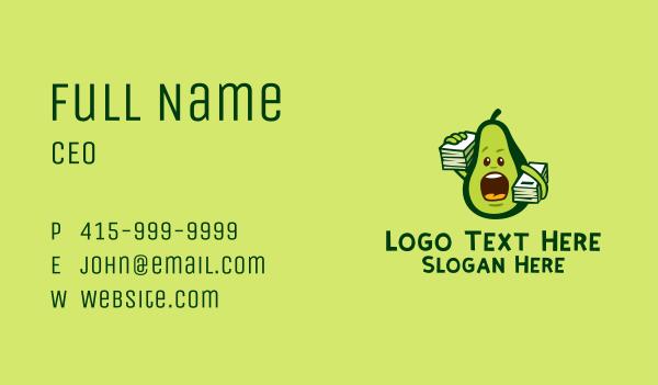 avocado - Avocado Student Mascot  Business card horizontal design