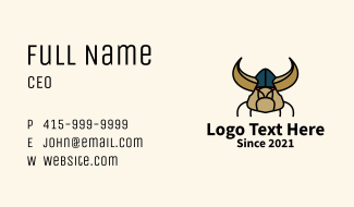 Wild Boar Viking  Business Card
