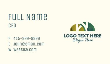 Shrub Plaza Letter W Business Card