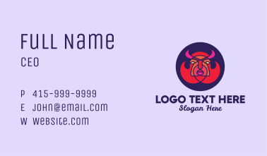 Evil Game Character  Business Card