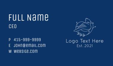 Blue Jay Bird Line Art Business Card