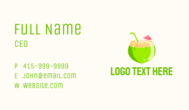 Fresh Coconut Juice  Business Card