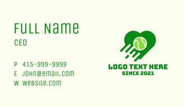 Tennis Ball Heart Business Card