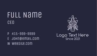 Gray Sword Champagne Business Card