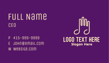 Musical Note Hands Business Card