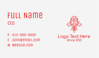 Red Axe Warrior  Business Card