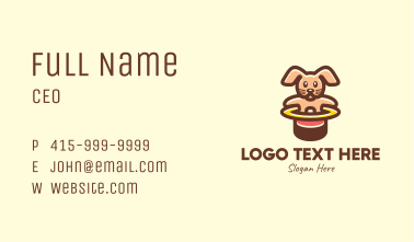 Cute Rabbit Hat Party Business Card