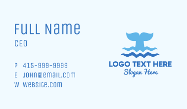 Whale Tail Ocean Business Card