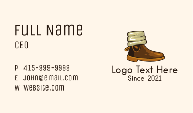 Classic Winter Boots Business Card