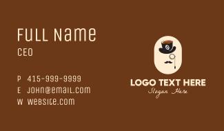 Gentleman Coffee Shop Business Card