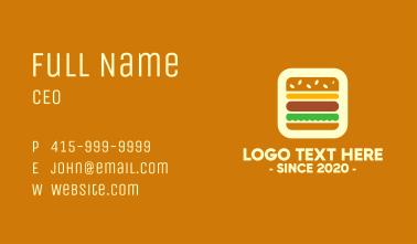 Burger App Business Card