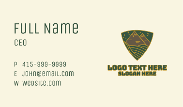 Triangle Meadow Badge Business Card