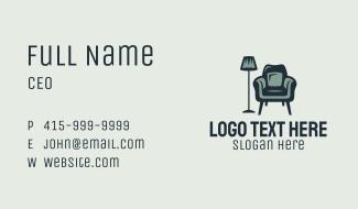 Green Lamp Armchair Business Card