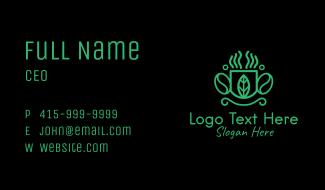 Green Organic Coffee Farm Business Card