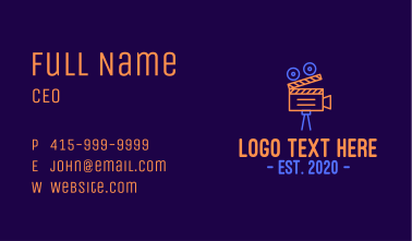 Neon Film Directing Business Card