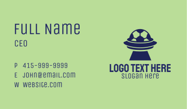 Soccer Spaceship Business Card