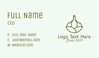 Wine Bottle Vineyard  Business Card