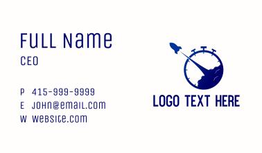 Blue Rocket Launch Timer Business Card
