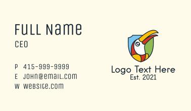 Toucan Bird Shield Business Card