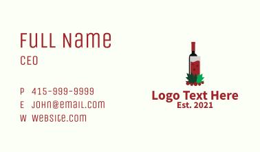 Wine Drink Bar  Business Card