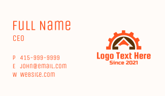 Cog Wheel House Business Card