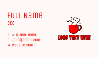 Ghost Devil Cup Business Card
