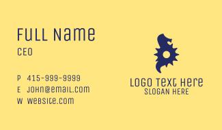 Cog Seahorse  Business Card