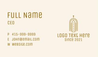 Bronze Star Building Business Card