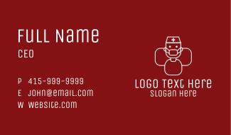 Healthcare Worker Man  Business Card