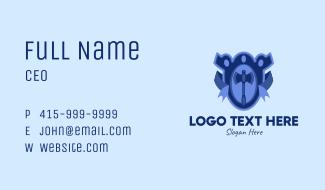 Blue Axe Emblem  Business Card