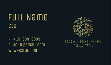 Golden Flower Therapy Business Card