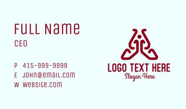 Yoga Studio Letter A Business Card