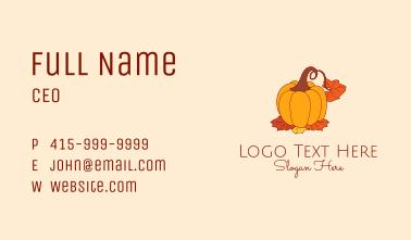 Fall Season Pumpkin Business Card