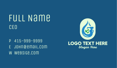 Natural Liquid Soap  Business Card