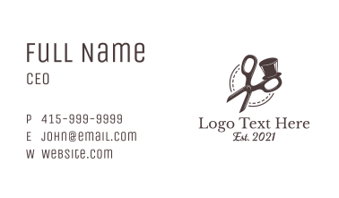 Gentleman Clothes Shears Business Card