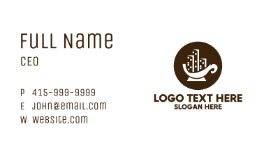 City Coffee Cup Business Card