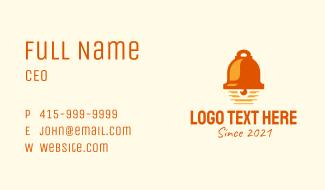 Orange Bell Ringer  Business Card