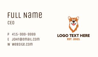 Cute Puppy Pet Business Card