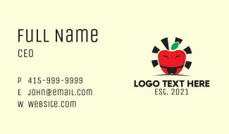 Sumo Apple Mascot Business Card