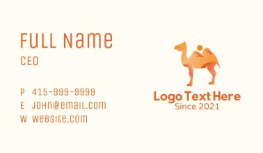 Desert Dunes Camel Business Card