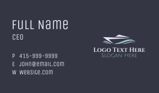 Blue Yacht Wave Business Card