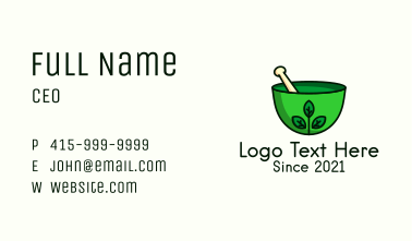 Herbal Mortar & Pestle Business Card